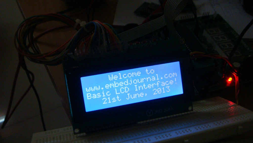There are two basic types of LCD