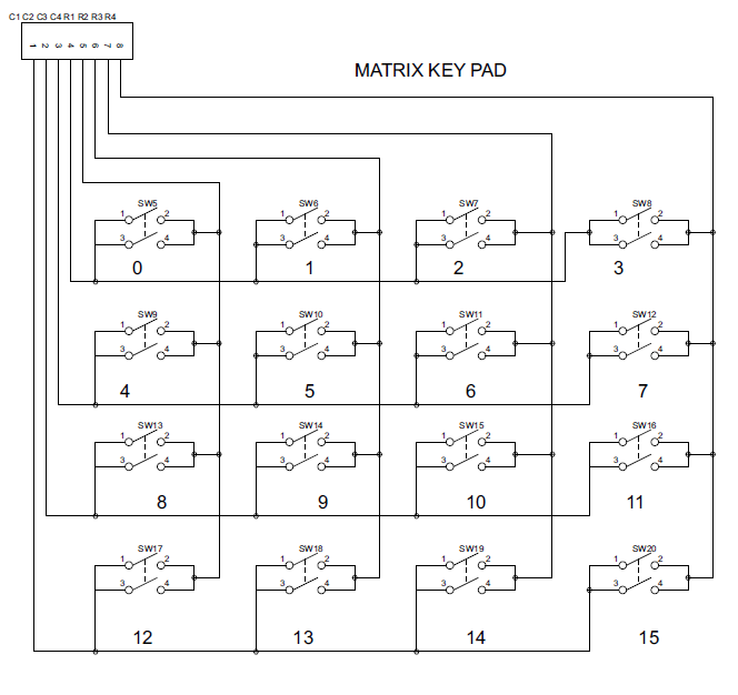 Interface 4x4 Matrix Keypad With Microcontroller