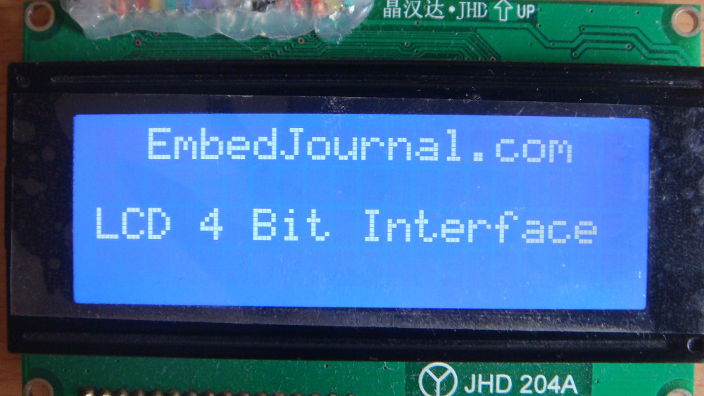 Interface LCD in 4 bit Mode - EmbedJournal
