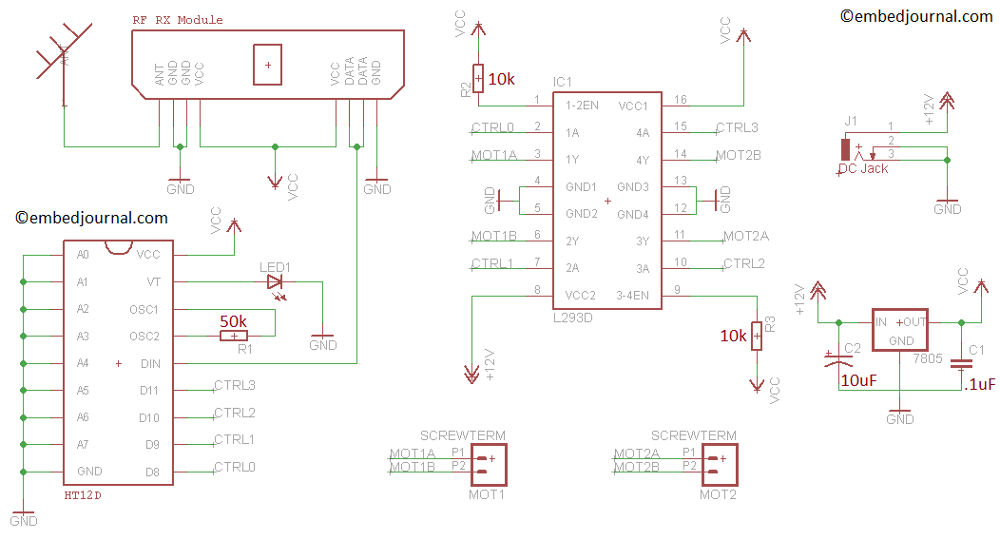 rc car receiver wiring diagram rc image wiring diagram make a simple rc remote controlled robot car embedjournal on rc car receiver wiring diagram