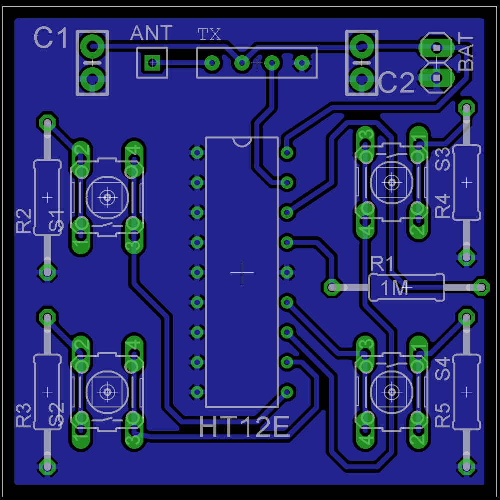Make A Simple Rc Remote Controlled Robot Car Embedjournal Stepper Motor Driver Pcb Circuit Basiccircuit Diagram Transmitter Layout